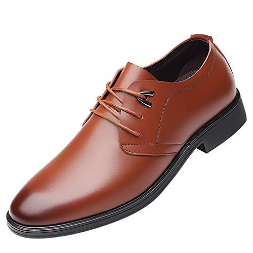ODRD [EU39-EU49] Schuhe Mode Männer Business Leder Schuhe Casual Runde Zehe Lace-UP Schuh Männlichen Anzug Schuhe Hot Stiefel Sneaker Wanderstiefel Combat Hallenschuhe Boots Sports (Männliche Kostüm Hot)