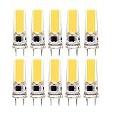 Lampadine a doppio ago con lampada al silicone G8 a LED, lampada a risparmio energetico COB da 3 W (lampada alogena sostitutiva equivalente a 30 W) Lampadina a LED, AC220-240V (confezione da 10) yd&h