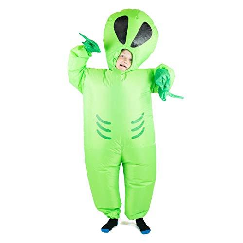 Bodysocks® Aufblasbares Alien Kostüm für Kinder