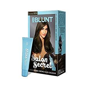 BBLUNT Salon Secret High Shine Creme Hair Colour, Coffee Natural Brown 4.31, 100g with Shine Tonic, 8ml
