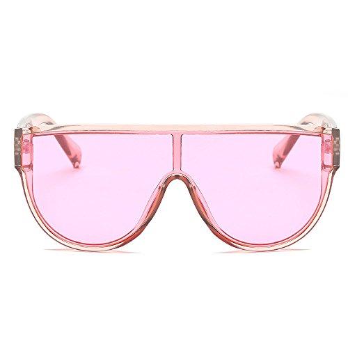 Vintage Unisex Mode Brille Retro Großer Rahmen XXYsm Rosa ()