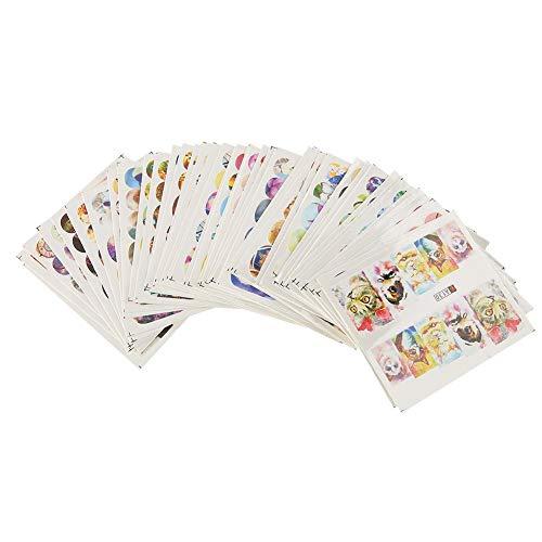 Nail Art Sticker 50 Blatt Wassertransfer Decals -