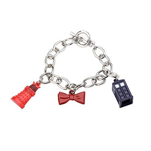 Doctor Who Dalek, nœud papillon, et Tardis Bracelet à breloques