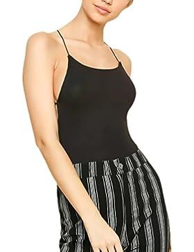 HaiDean Body Mujer Sin Mangas Camisetas De Tirantes Verano Elegantes Atractivo Modernas Casual Sin Espalda Bodycon...