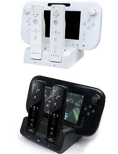 Fernbedienung-ladegerät 3 Playstation (ZZR 3 in 1 Ladegerät Dock Station Stand-Ladegerät für Nintendo Wii U Gamepad&Fernbedienungen)