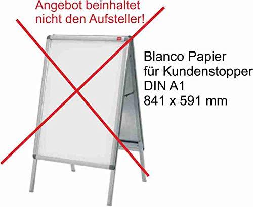 Papier DIN A1 170g weiss, passend für Gehwegaufsteller, 25Stk, P&P24