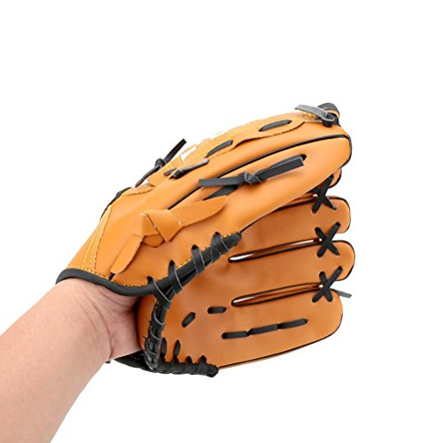 Winomo 12,5-Zoll komfortabel dauerhaft im freien Team Softball Baseball linken Sporthandschuh