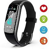 JAZIPO Fitness Armband mit Pulsmesser Blutdruck, Wasserdicht IP67 Fitness Tracker Smartwatch GPS Aktivitätstracker