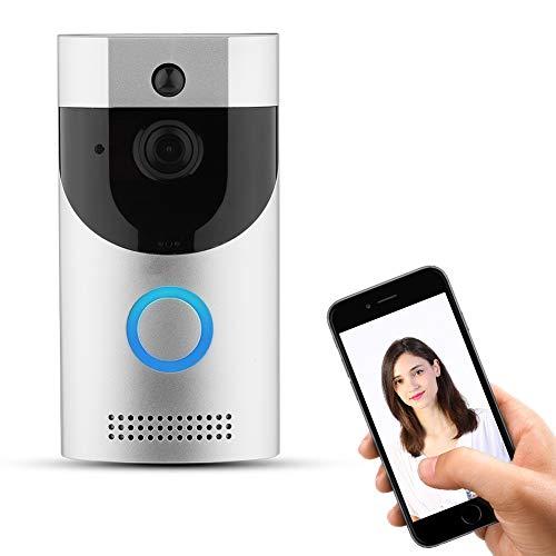 Videocitofono senza fili, wifi smart video campanello visibile telecamera senza fili con visione notturna a infrarossi/allarme di emergenza/monitoraggio telefono mobile
