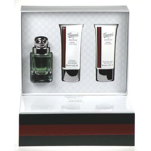 Gucci Pour Homme Sport, homme/man, Geschenkset (Eau de Toilette, 50 ml + Aftershave Balm, 50 ml + Duschgel, 50 ml) -