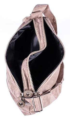 Borsa sportiva a tracolla/a mano, in nylon, disponibile in diversi colori, BLACK (nero) - A2040059-1 Stone-Coloured