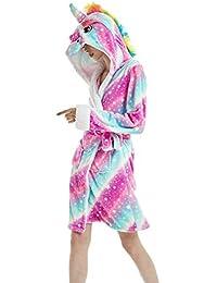 Woneart Albornoz para Mujer Niña Camisones Novedad Disfraz de Peluche Animales Ropa De Dormir con Capucha Batas Loungewear Costume Halloween Carnaval