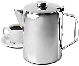 King International Restaurant Stainless Steel 1000 ml Teapot Water Kettle Pitcher Coffee Pot Handle - Mirror Finish