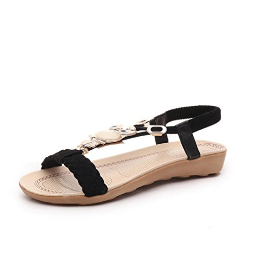 Senhoras Transer® Toe Trenner Verão Sapatos Casuais Sandálias De Praia Sandália Preta