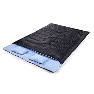 outad riesige doppelschlafsack mit 2 kostenlose kissen und einer tragetasche sport. Black Bedroom Furniture Sets. Home Design Ideas