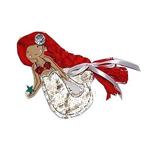 Aufnäher Meerjungfrau mit Flosse aus Wendepailletten Xl, C-Fashion-Design