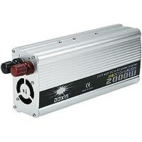 KKmoon 2000W Inversor de Corriente Portátil DC 12V a AC 220V Convertidor Adaptador de Fuente de Alimentación