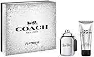 Coach New York Platinum Eau de Parfum and All Over Shower Gel Gift Set