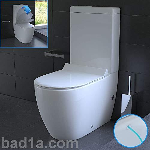 GEBERIT Design Stand-WC aus Keramik mit Bidet