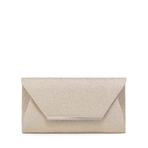 debut-womens-gold-glitter-envelope-clutch-bag
