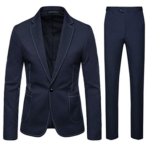 Tosonse Blazer Herrenanzug Slim Herren Mäntel Zweiteiliger Anzug Blazer Business Wedding Party Jacket Coat & Pants