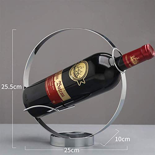 JUSTINZZ 1 Flaschen Weinregal Ständer - Freistehender Weinflaschenhalter - Zeitgenössisches Einzigartiges Design Keine Montage Erforderlich,Stainlesssteelcolor -