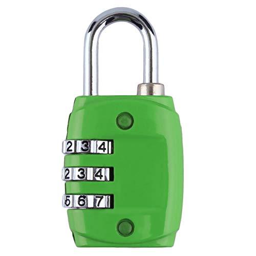 Ballylelly Aleación de zinc Seguridad 3 Dígitos Número de código de combinación Candado de bloqueo...