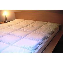 Protector de colchón de 2 plaza, bambú antitranspirante y antibacteriano, 140 x 195 cm
