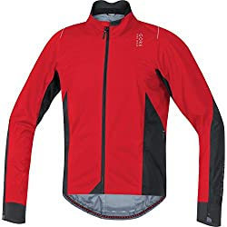GORE BIKE WEAR Chaqueta Carrera para Hombre, GORE-TEX Active, OXYGEN 2 0 GORE-TEX Active, Talla XL, Rojo/Negro, JGOXYA359906