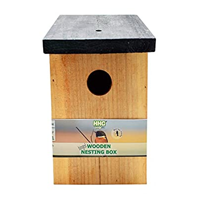 Handy Home and Garden Pressure Treated Wooden Wild Bird House Wood Nesting Box - Choose Between Standard Wood or 100% FSC Wood by Handy Home and Garden