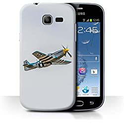 eSwish Coque de Coque pour Samsung Galaxy Trend Lite/S7390 / P-51 Mustang North American Design/Avion Historique 2eme Guerre Mondiale Collection