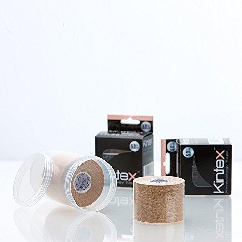 2 Rollen Kintex Classic Kinesiologietape + Ziatec Tape Schutzdose, Farbe:2 x beige