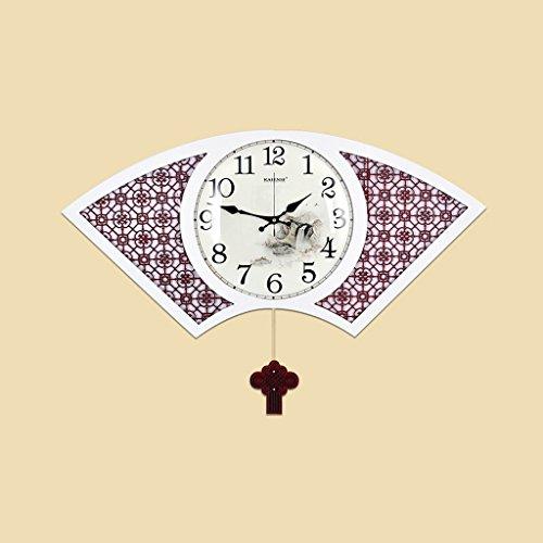 Taschenuhr Neue (COCO Uhren und Uhren Wanduhr Wohnzimmer Neue chinesische Stil Taschenuhr Massivholz Sektor Uhr chinesischen Stil kreativ HOME ( Size : 62*38cm ))