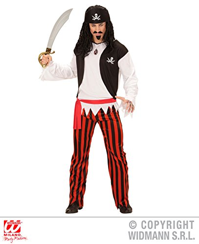 Widmann WDM07233 - Costume Pirata, Multicolore, Large