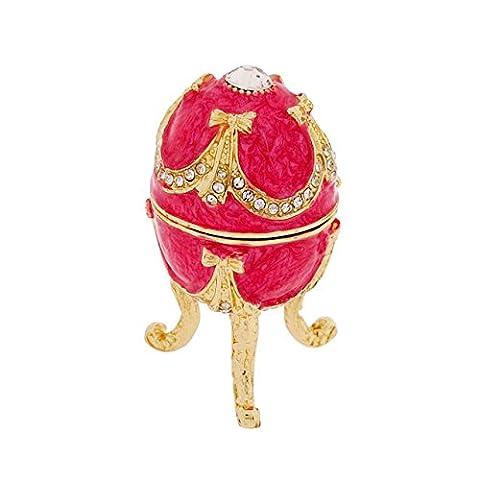 Juliana Damen Fuchsia Schmuckgegenstand faberge-style Oval Ei in Box geliefert