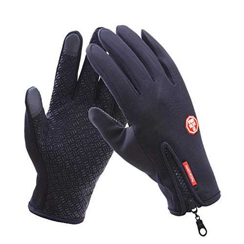 XuBa Touch Screen Full Finger Winter Sport Windstopper Guanti da Sci Caldi Guanti da Equitazione Guanti da Moto