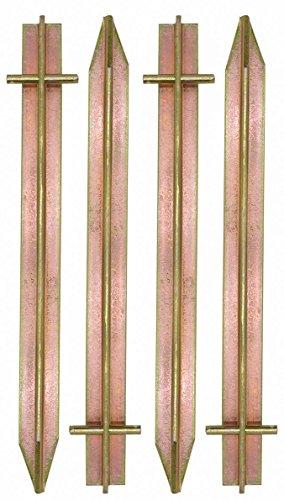 AMANKA Massiv XL 4 Stahl Erdnägel T-Profil Loch 300x25mm Zelt-Heringe Harte Böden Zeltnägel Campingheringe Lang Verzinkt