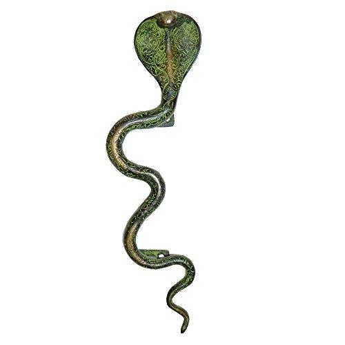 MANIGLIA in ottone a forma di cobra Manodopera artigianato d