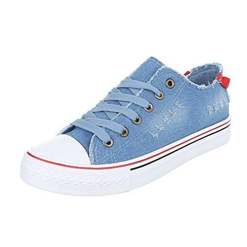 Ital-Design - Pantofole Donna Blau 6327-Y