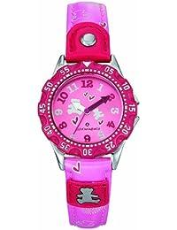 Lulu Castagnette - 38583 - Montre Fille - Quartz Analogique - Cadran Rose - Bracelet Cuir Rose
