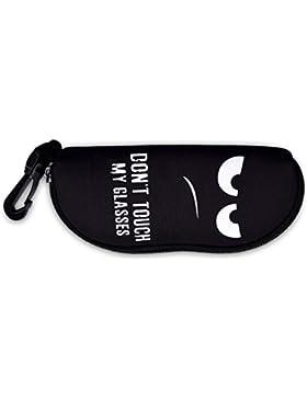 kwmobile Custodia astuccio per occhiali da sole con cerniera - tasca protettiva con cerniera in neoprene porta...