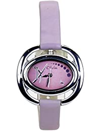 Olvin Analog Purple Dial Women's Watch - 1629SL04