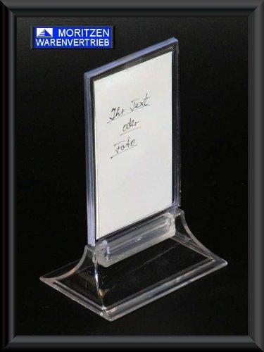 5 x Hinweisschild 5,5 x 9 cm - Angebotstafel Speisekartenhalter Werbetafel Tischständer Menükartenhalter Schild Tafel Kartenhalter Ständer Angebotsständer Tischangebot Tischtafel Werbeschild Werbeständer Werbetafel ideal für Werbung und Angebote Namensschild Empfang Fotoständer Fotorahmen