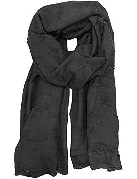 tigha Damen Schal Herbst Winter Accessoire schwarz one size