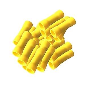 Stossverbinder isoliert gelb 100x Stoßverbinder 4 - 6 mm vollisoliert Crimpzange Quetschverbinder Kabelverbinder Crimp Zange Verbinder Kabelschuhe kfz 4-6 mm ARLI