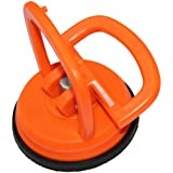 Mini de ventosa, ventosa (Kleine monomando 55mm de diámetro ventosa) por ejemplo para espejos, azulejos, etc., color naranja