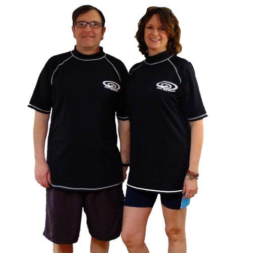 ard Swim Shirt-UV-Schutz-Männer & Frauen-Schwarz, Unisex-Erwachsene Herren, schwarz, 4XL-(54 inch Chest) ()