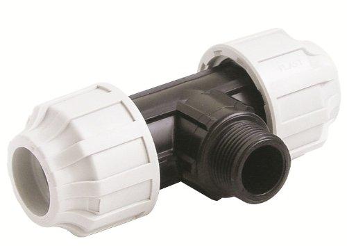 STP Fittings 08335324 Tuyau à connecteur en T avec filetage mle Polypropylène 12 x 3.8 x 2.2 cm