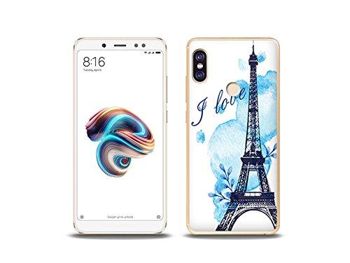 etuo Xiaomi Redmi Note 5 - Hülle Fantastic Case - Blauer Eiffelturm - Handyhülle Schutzhülle Etui Case Cover Tasche für Handy