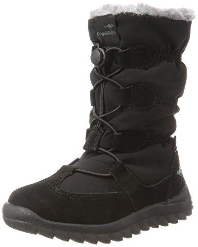 Kleine Mädchen-schnee-stiefel (KangaROOS Unisex-Kinder K-Frost Schneestiefel, Schwarz (Jet Black), 38 EU)